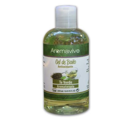 Shower Gel Té Verde 250ml aromaterapia aromavive puerto vallarta