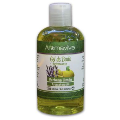 Shower Gel Verbena Limón 250ml aromaterapia aromavive puerto vallarta